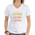 The Fall Feasts of Our Crea Women's V-Neck T-Shirt