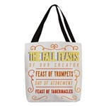 The Fall Feasts of Our Creator Polyester Tote Bag