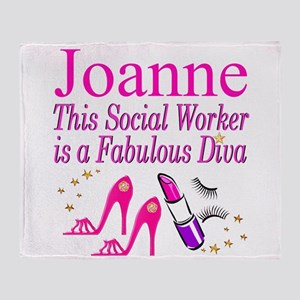 TOP SOCIAL WORKER Throw Blanket