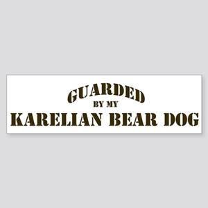 Karelian Bear Dog: Guarded by Bumper Sticker