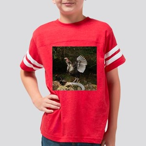 turkeywingsspreadlrgbutton Youth Football Shirt