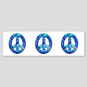 Hippy Peace, blue Bumper Sticker