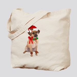 Santa Puggle Tote Bag