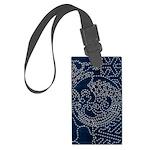 Sashiko-style Embroidery Large Luggage Tag