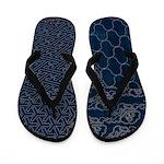 Sashiko-style Embroidery Flip Flops