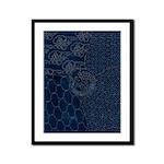 Sashiko-style Embroidery Framed Panel Print