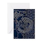 Sashiko-style Embroidery Greeting Cards (Pk of 20)