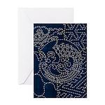 Sashiko-style Embroidery Greeting Card