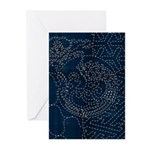 Sashiko-style Embroidery Greeting Cards (Pk of 10)