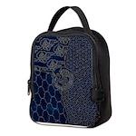 Sashiko-style Embroidery Neoprene Lunch Bag