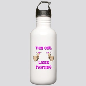This Girl Likes Farting Stainless Water Bottle 1.0