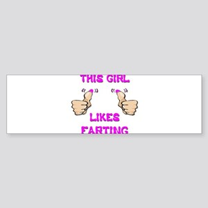 This Girl Likes Farting Sticker (Bumper)