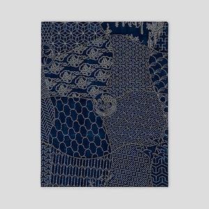 Sashiko-style Embroidery Twin Duvet