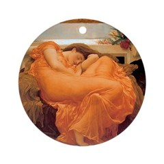 Flaming June - Round Ornament