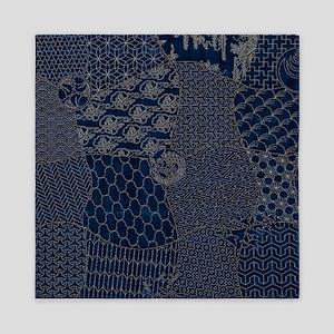 Sashiko-style Embroidery Queen Duvet