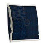 Sashiko-style Embroidery Burlap Throw Pillow
