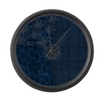 Sashiko-style Embroidery Large Wall Clock