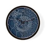 Sashiko-style Embroidery Wall Clock