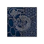Sashiko-style Embroidery Square Sticker 3