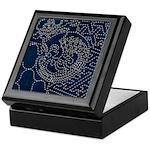 Sashiko-style Embroidery Keepsake Box