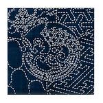 Sashiko-style Embroidery Tile Coaster