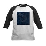 Sashiko-style Embroidery Kids Baseball Jersey
