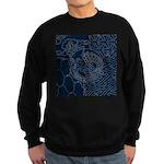 Sashiko-style Embroidery Sweatshirt (dark)