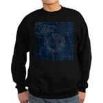 Sashiko-style Embroidery Sweatshirt (dark)