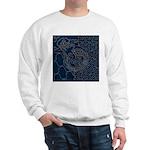 Sashiko-style Embroidery Sweatshirt