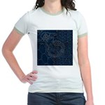 Sashiko-style Embroidery Jr. Ringer T-Shirt