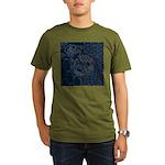 Sashiko-style Embroidery Organic Men's T-Shirt (da