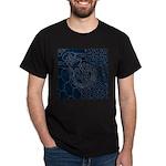 Sashiko-style Embroidery Dark T-Shirt