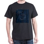 Sashiko-style Embroidery Dark T-Shirt
