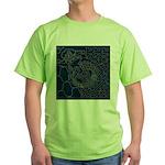 Sashiko-style Embroidery Green T-Shirt