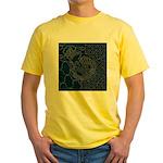 Sashiko-style Embroidery Yellow T-Shirt