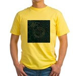 Sashiko-style Embroidery Yellow T-Shirt
