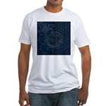 Sashiko-style Embroidery Fitted T-Shirt