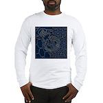 Sashiko-style Embroidery Long Sleeve T-Shirt