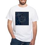 Sashiko-style Embroidery White T-Shirt