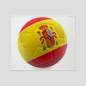 Spain world cup soccer ball Throw Blanket