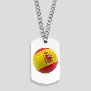 Spain world cup soccer ball Dog Tags