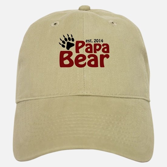 Papa Bear New Dad 2014 Baseball Baseball Cap