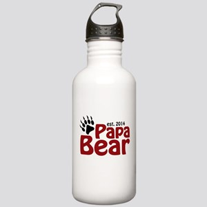Papa Bear New Dad 2014 Stainless Water Bottle 1.0L