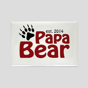 Papa Bear New Dad 2014 Rectangle Magnet