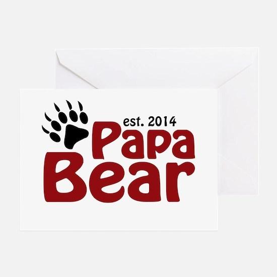 Papa Bear New Dad 2014 Greeting Card