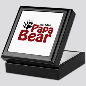 Papa Bear New Dad 2014 Keepsake Box