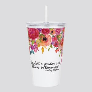 Plant a Garden and bel Acrylic Double-wall Tumbler