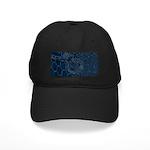 Sashiko-style Embroidery Black Cap