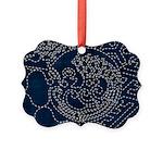 Sashiko-style Embroidery Picture Ornament