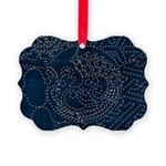 Sashiko-style Embroidery Picture Ornament